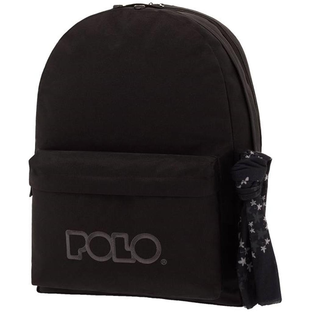 810921daab9 book-stop.gr-Polo 9-01-235-02 Σακίδιο Πλάτης Original Double Scarf Μαύρο